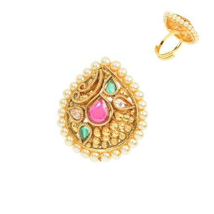 12480 Antique Classic Ring with gold plating