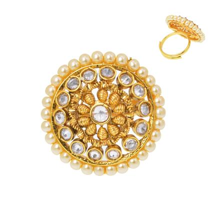 12481 Antique Classic Ring with gold plating