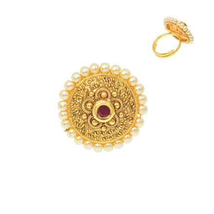 12483 Antique Classic Ring with gold plating
