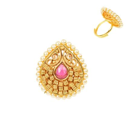 12484 Antique Classic Ring with gold plating