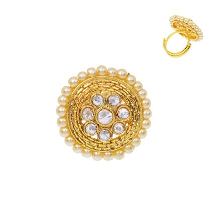 12485 Antique Classic Ring with gold plating