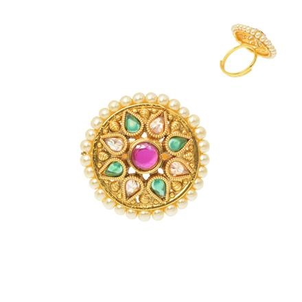12487 Antique Classic Ring with gold plating