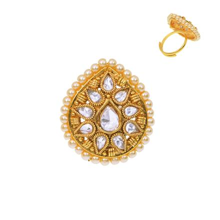 12488 Antique Classic Ring with gold plating