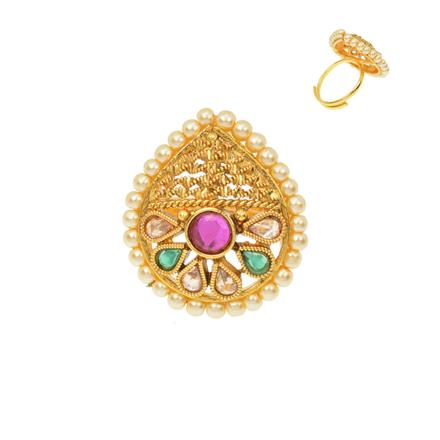 12490 Antique Classic Ring with gold plating