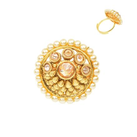 12491 Antique Classic Ring with gold plating