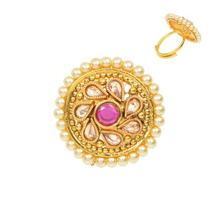 12492 Antique Classic Ring with gold plating