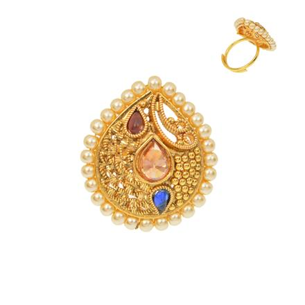 12493 Antique Classic Ring with gold plating