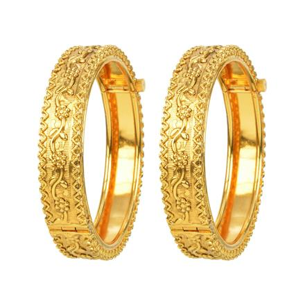12517 Antique Openable Bangles with gold plating