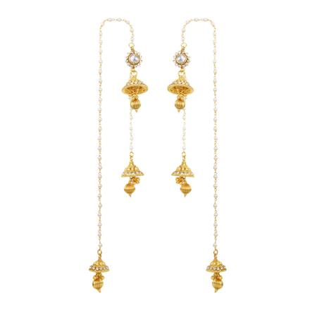 12527 Antique Jhumki with gold plating