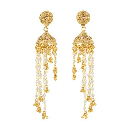 12528 Antique Jhumki with gold plating
