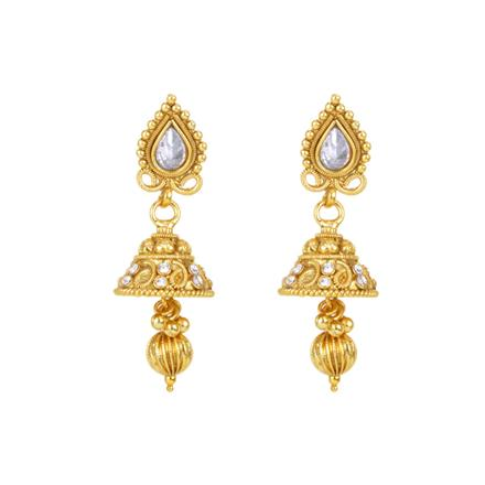 12529 Antique Delicate Earring with gold plating