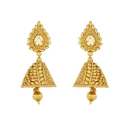 12531 Antique Jhumki with gold plating