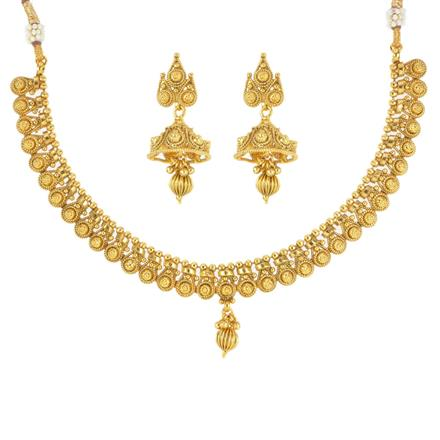12533 Antique Delicate Necklace with gold plating