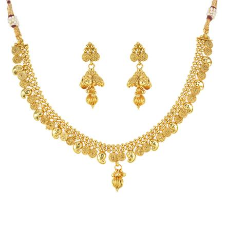 12534 Antique Delicate Necklace with gold plating