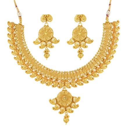 12535 Antique Plain Gold Necklace