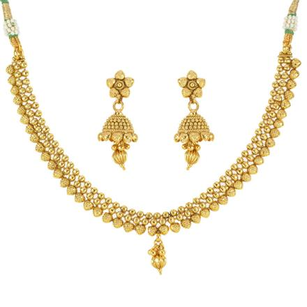 12536 Antique Delicate Necklace with gold plating