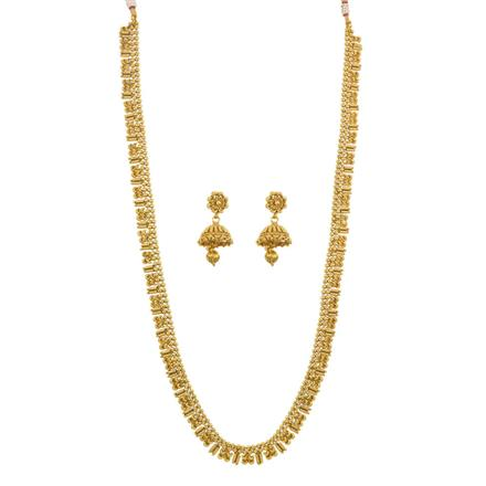 12537 Antique Long Necklace with gold plating