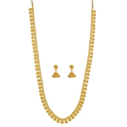 12539 Antique Long Necklace with gold plating