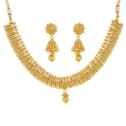 12540 Antique Delicate Necklace with gold plating