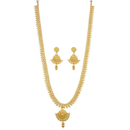 12541 Antique Long Necklace with gold plating