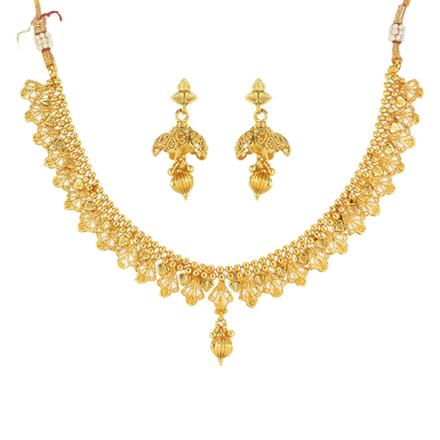 12542 Antique Delicate Necklace with gold plating