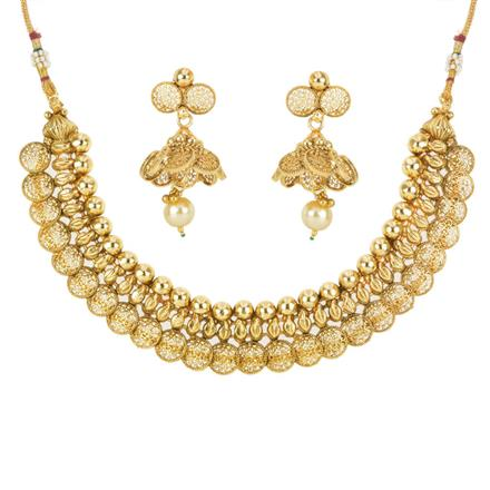 12545 Antique Plain Gold Necklace