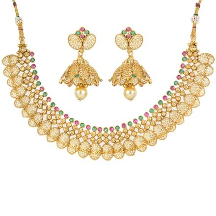 12546 Antique Classic Necklace with gold plating