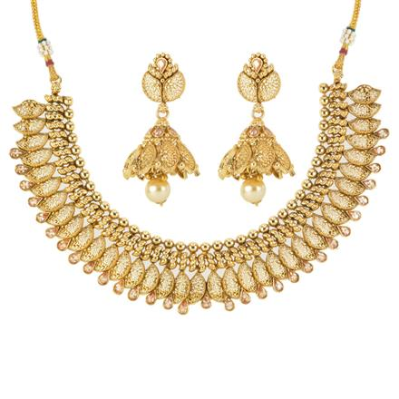 12547 Antique Classic Necklace with gold plating