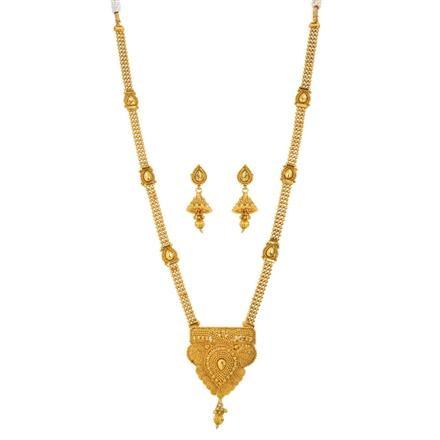 12550 Antique Long Necklace with gold plating