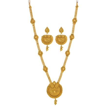12551 Antique Long Necklace with gold plating