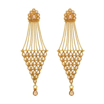 12552 Antique Long Earring with gold plating