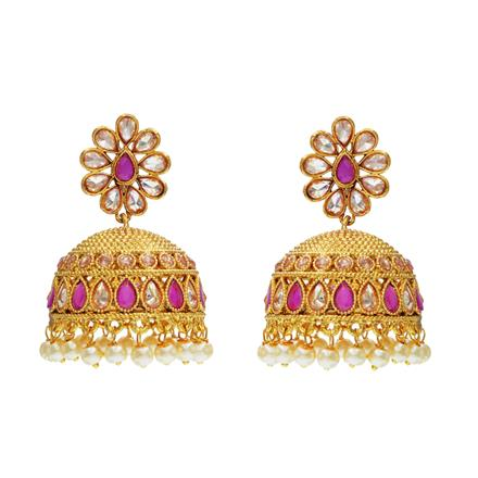 12576 Antique Jhumki with gold plating