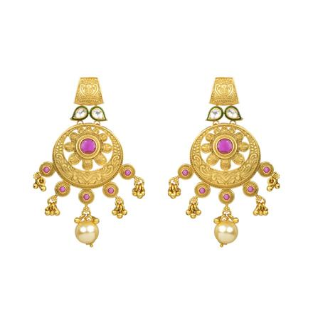 12577 Antique Classic Earring with gold plating
