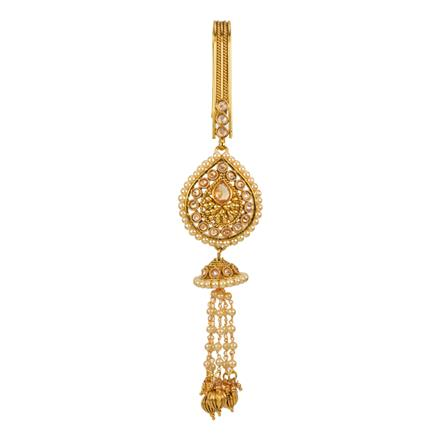 12594 Antique Delicate Jhuda with gold plating