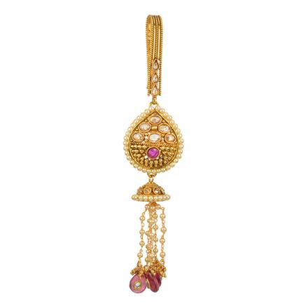 12595 Antique Delicate Jhuda with gold plating