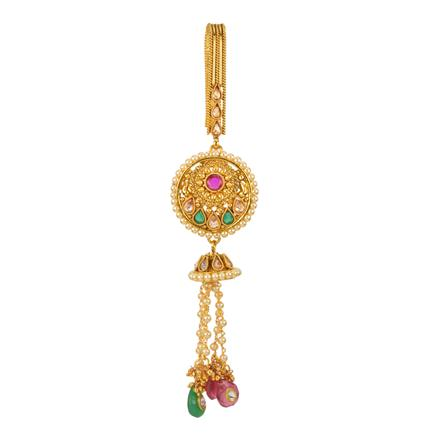 12597 Antique Delicate Jhuda with gold plating