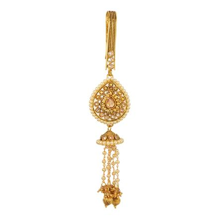 12598 Antique Delicate Jhuda with gold plating