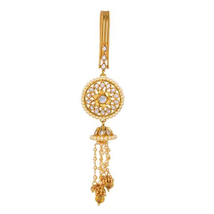 12604 Antique Delicate Jhuda with gold plating