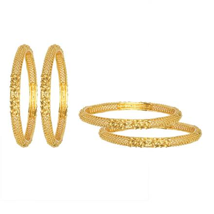 12607 Antique Classic Bangles with gold plating