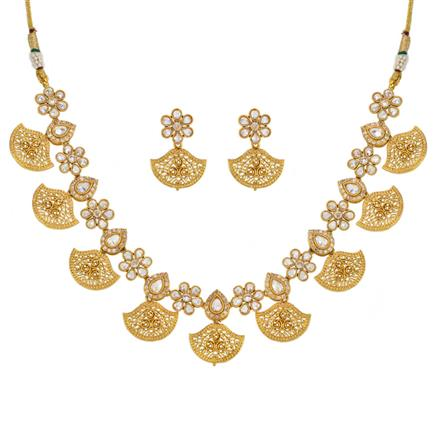 12612 Antique Classic Necklace with gold plating