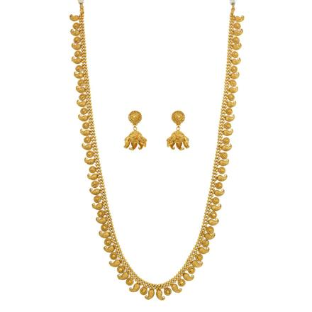 12639 Antique Long Necklace with gold plating