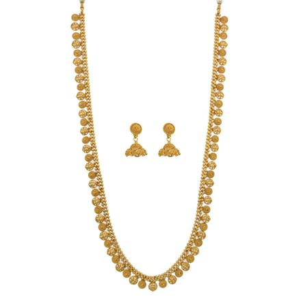 12640 Antique Long Necklace with gold plating
