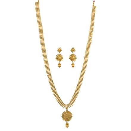 12642 Antique Long Necklace with gold plating