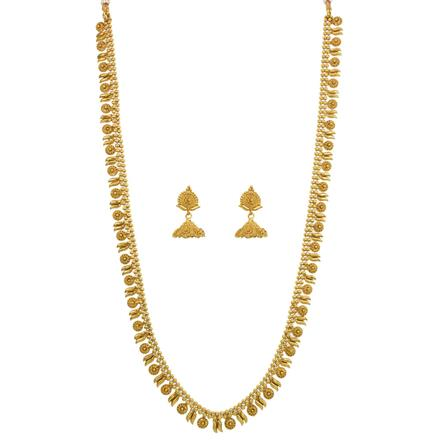 12643 Antique Long Necklace with gold plating