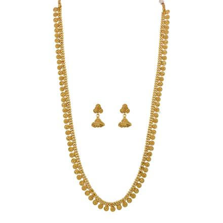 12644 Antique Long Necklace with gold plating