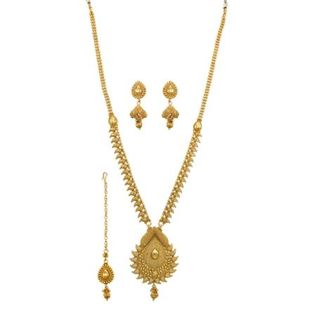 12645 Antique Long Necklace with gold plating