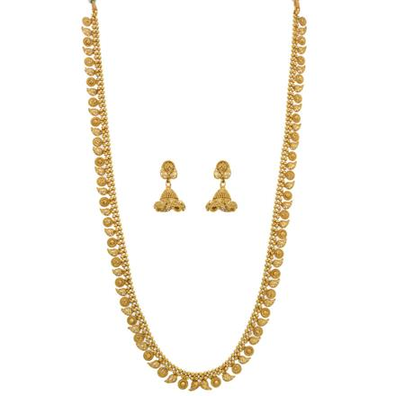 12646 Antique Long Necklace with gold plating