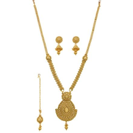 12647 Antique Long Necklace with gold plating