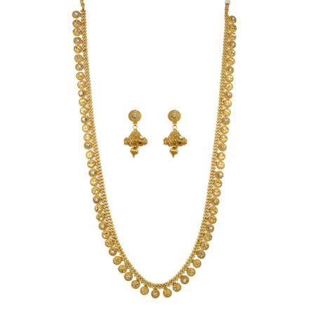 12648 Antique Long Necklace with gold plating
