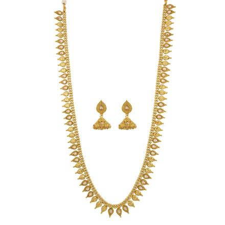 12649 Antique Long Necklace with gold plating